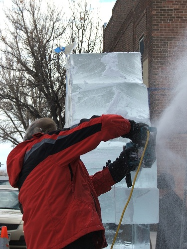 Ice-carving-