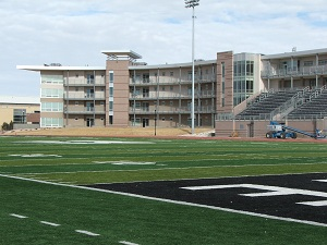 Adams-State-College-dorms-and-football-field